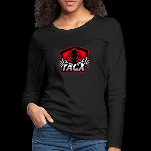 TagX Logo with red borders - Naisten premium pitkähihainen t-paita
