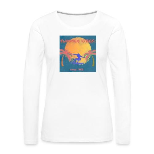 Summer vibes - Camiseta de manga larga premium mujer