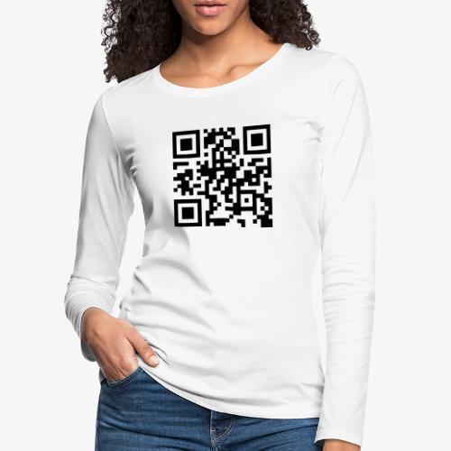 QR Code - Women's Premium Longsleeve Shirt