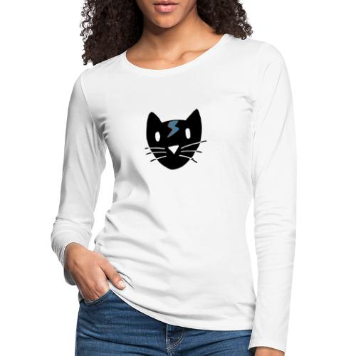 Chat Bowie - T-shirt manches longues Premium Femme