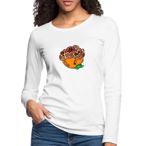 Schüssel Spaghetti - Frauen Premium Langarmshirt