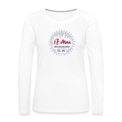 17. mai T-skjorte - Det norske plagg - Premium langermet T-skjorte for kvinner