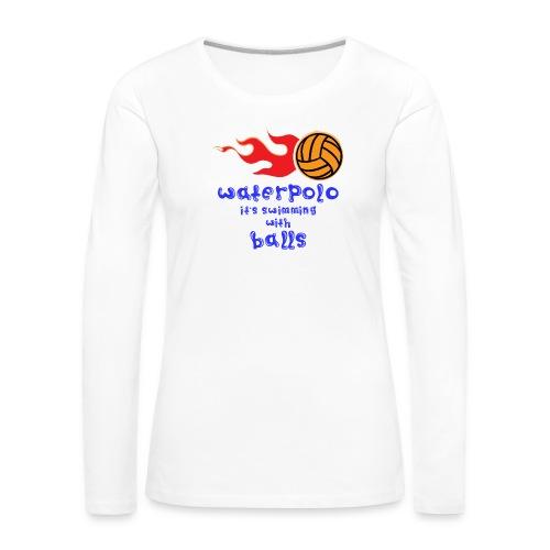 Waterpolo - Maglietta Premium a manica lunga da donna
