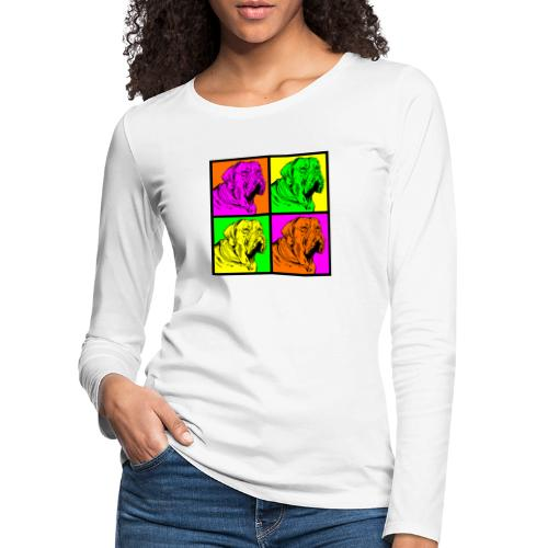 Bouledogue Anglais Couleur - T-shirt manches longues Premium Femme