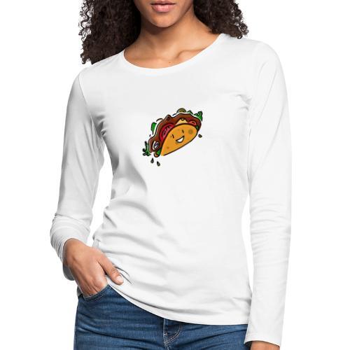 Glücklicher Taco - Frauen Premium Langarmshirt