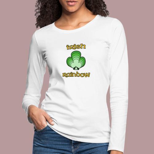 Irish rainbow - T-shirt manches longues Premium Femme