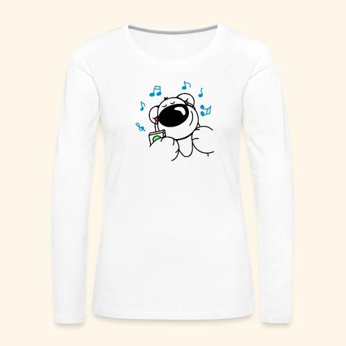 Der Bär hört Musik - Frauen Premium Langarmshirt