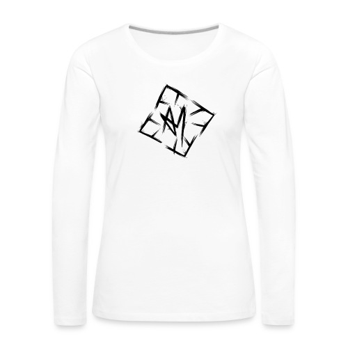 Across Yourself - Logo black transparent - Women's Premium Longsleeve Shirt