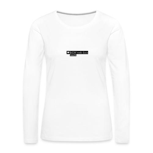 MDN Web Docs - Women's Premium Longsleeve Shirt