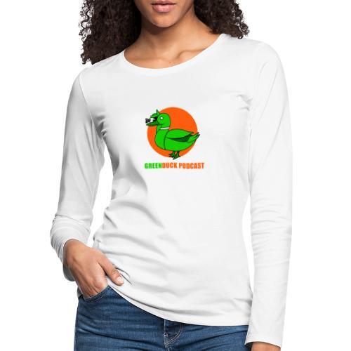 Greenduck Podcast Logo - Dame premium T-shirt med lange ærmer