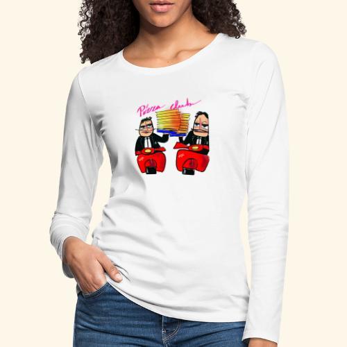Pizza Club - Vrouwen Premium shirt met lange mouwen