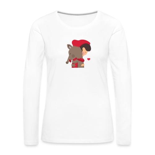 Abbracciccio-02 - Maglietta Premium a manica lunga da donna