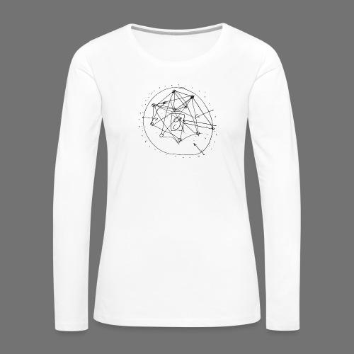 SEO-strategi No.1 (sort) - Dame premium T-shirt med lange ærmer