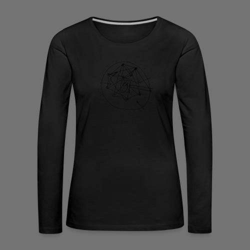 SEO strategia No.1 (musta) - Naisten premium pitkähihainen t-paita