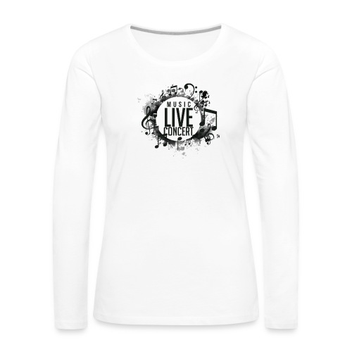 musica - Camiseta de manga larga premium mujer