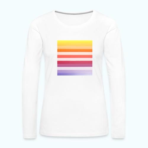 Rainbow Abstract Acrylic Painting - Women's Premium Longsleeve Shirt