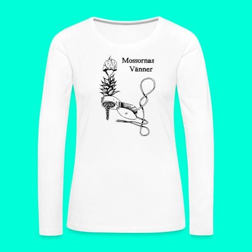 mossvanner - Långärmad premium-T-shirt dam