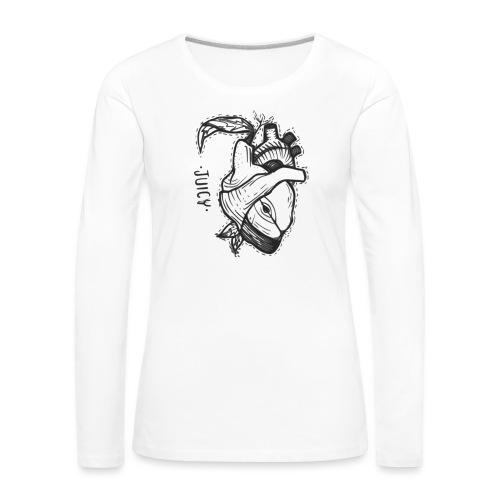 Apple Heart B - Camiseta de manga larga premium mujer