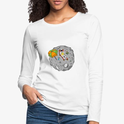 To the Moon - T-shirt manches longues Premium Femme