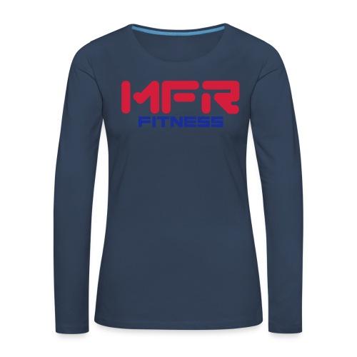 mfr fitness - Långärmad premium-T-shirt dam