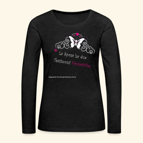 Testimoni Nozze - Maglietta Premium a manica lunga da donna