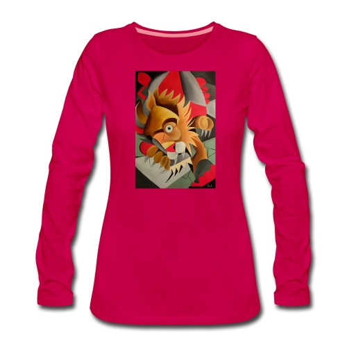 leone - Maglietta Premium a manica lunga da donna