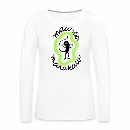 Maastomarakatti - Naisten premium pitkähihainen t-paita