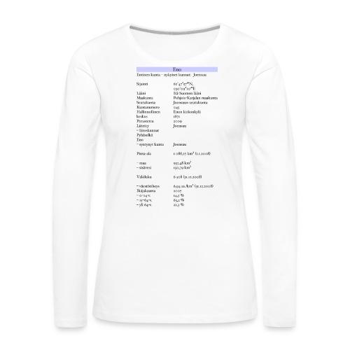 Tilastollinen Eno - Naisten premium pitkähihainen t-paita