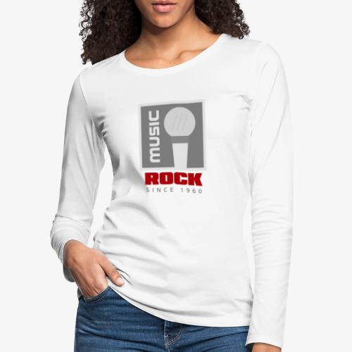 MUSIC 004R - Camiseta de manga larga premium mujer