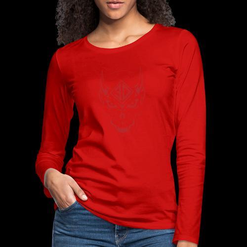 devil skull red - T-shirt manches longues Premium Femme