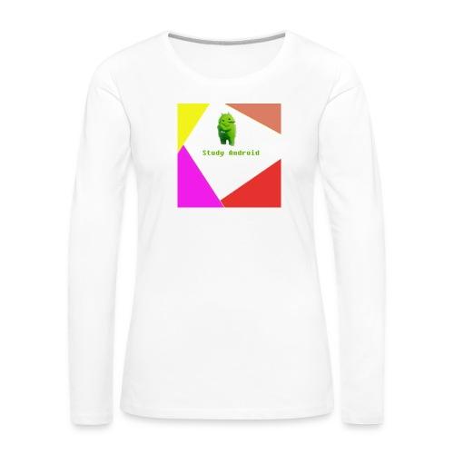 Study Android - Camiseta de manga larga premium mujer