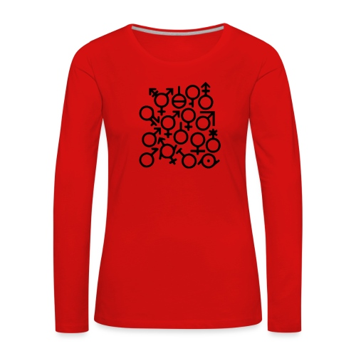 Multi Gender B/W - Vrouwen Premium shirt met lange mouwen
