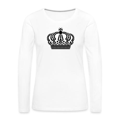 kroon keep calm - Vrouwen Premium shirt met lange mouwen