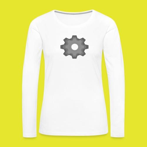 kugghjul - Långärmad premium-T-shirt dam