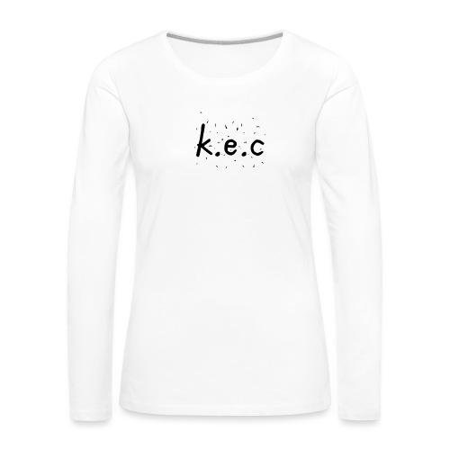 K.E.C basball t-shirt - Dame premium T-shirt med lange ærmer