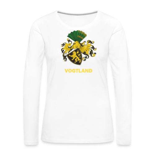 Vogtland Wappen Weida - Frauen Premium Langarmshirt