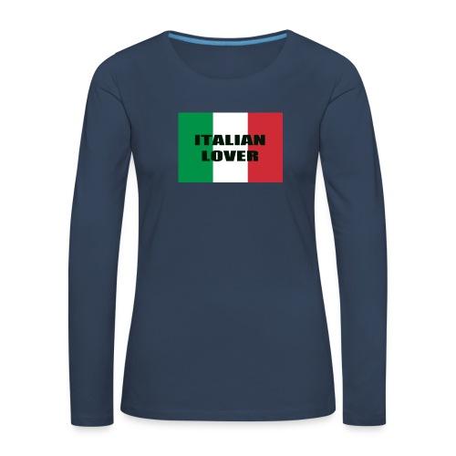 ITALIAN LOVER - Maglietta Premium a manica lunga da donna