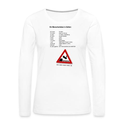Menschenleben in Zahlen - Frauen Premium Langarmshirt
