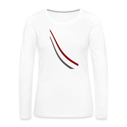 stripes shirt png - Vrouwen Premium shirt met lange mouwen
