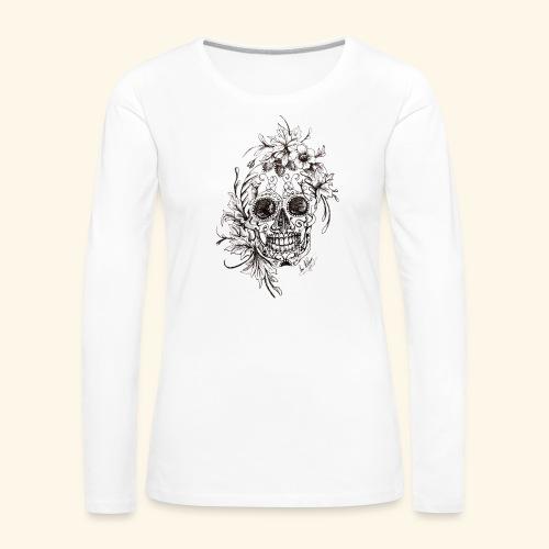 SkullDrawings - Långärmad premium-T-shirt dam