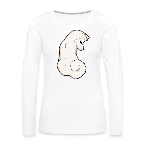 Akita bianco - Maglietta Premium a manica lunga da donna