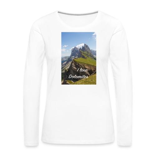 Naturpark Puez Geisler - Frauen Premium Langarmshirt