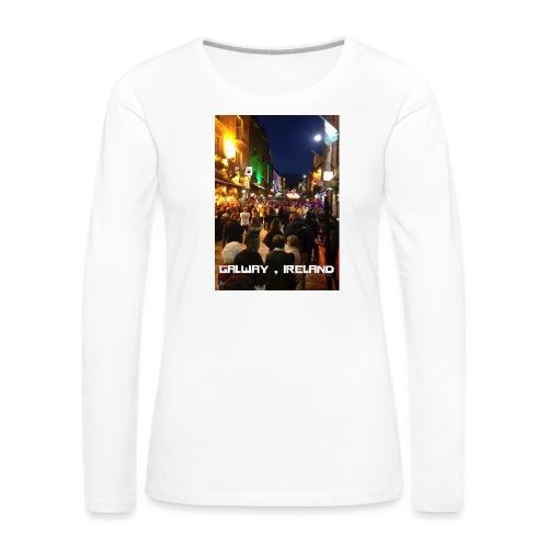 GALWAY IRELAND SHOP STREET - Women's Premium Longsleeve Shirt