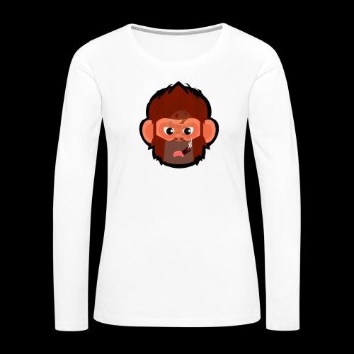 PoGo Mask t-shirt - Dame premium T-shirt med lange ærmer