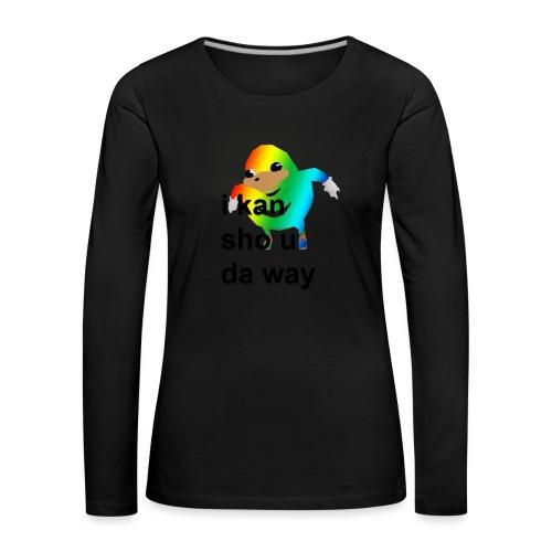 uganda - Naisten premium pitkähihainen t-paita