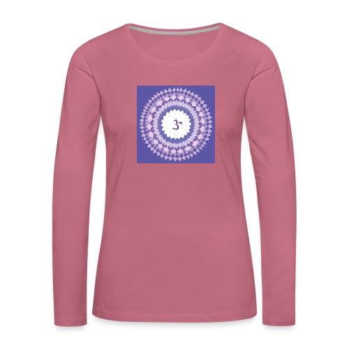 Sahasrara - Crown Chakra - Naisten premium pitkähihainen t-paita