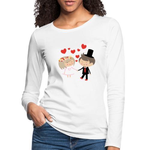 Happy Meitlis - Hochzeitspaar - Frauen Premium Langarmshirt