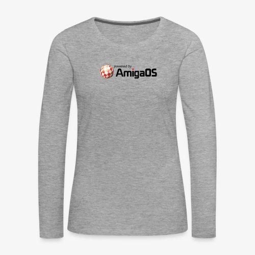 PoweredByAmigaOS Black - Women's Premium Longsleeve Shirt