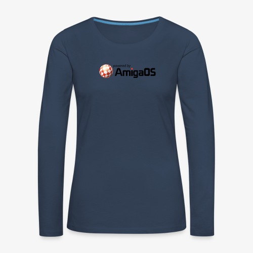 PoweredByAmigaOS Black - Women's Premium Longsleeve Shirt