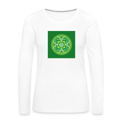 Anahata - Heart Chakra - Naisten premium pitkähihainen t-paita